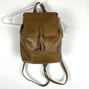 Coach 9858 Legacy West Camel Leather Backpack